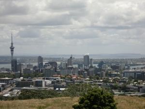 Auckland Stadtzentrum vom Mt Eden